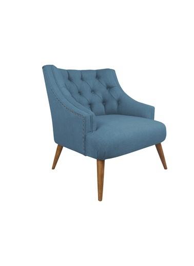 Ze10 Design Lamont Tekli Koltuk Gece Mavisi Mavi